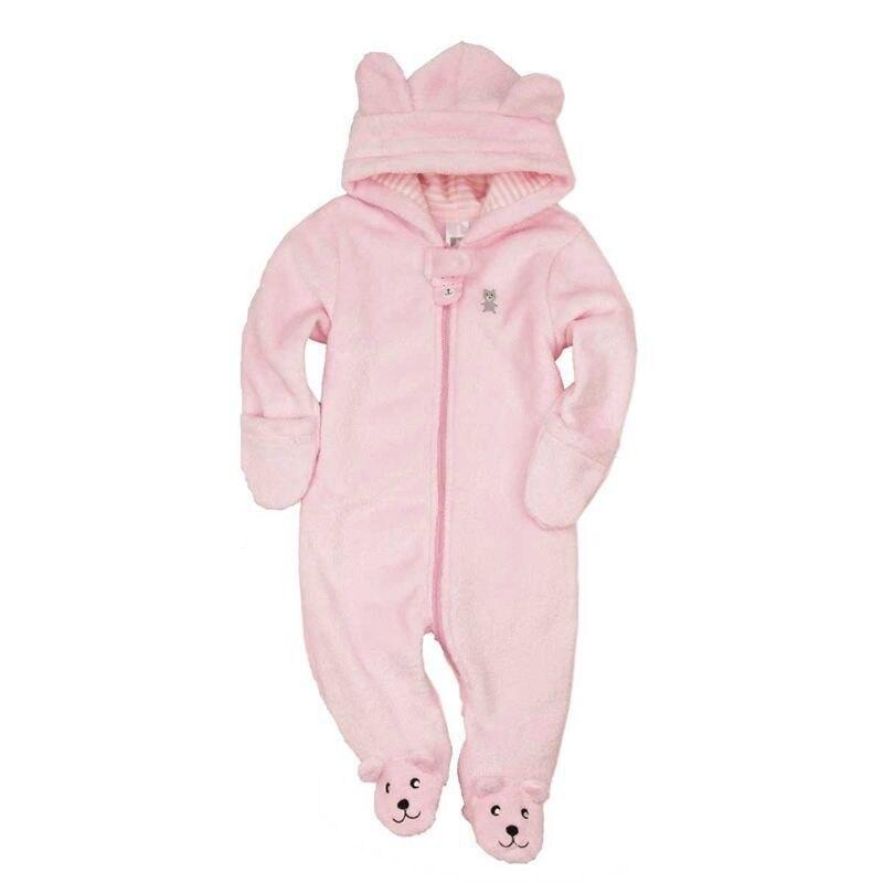 954dfeaa4 Bear style jjoh baby coral fleece long sleeve hooded romper