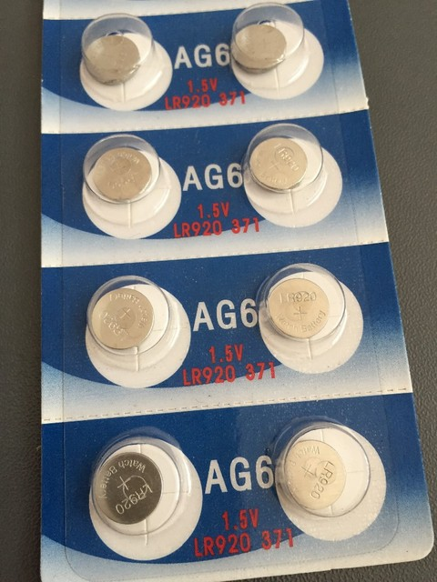 10x Wama AG6 LR920 371 370 1.5V Alkaline Button Cell Coin Battery Wholesale Factory High Capacity Disposable Calculator Toy New