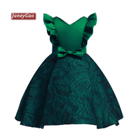 JaneyGao Flower Girl Dresses For Wedding Party Little Girl Cute Gown Short Green Kids Dinner Party Dress 2019 New Style In Stock