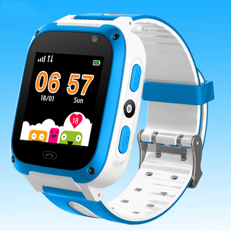 WISHDOIT светодио дный Цвет Сенсорный экран Детские умные часы фунтов позиционирования трекер дети часы SOS безопасности Детские часы Поддержка SIM + коробка