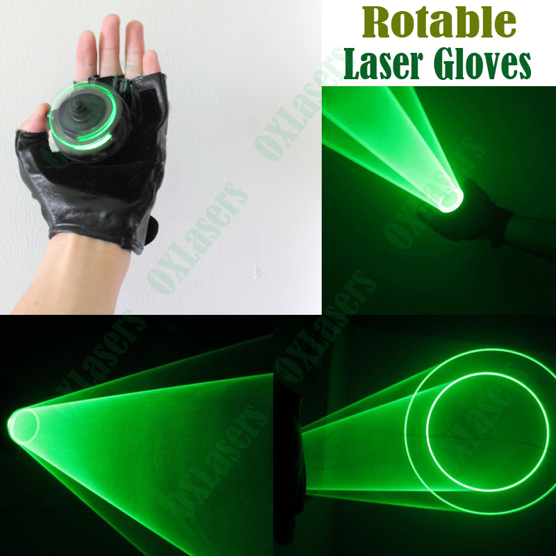 Oxlasers Auto Moving Green Laser Gloves Palm Dj