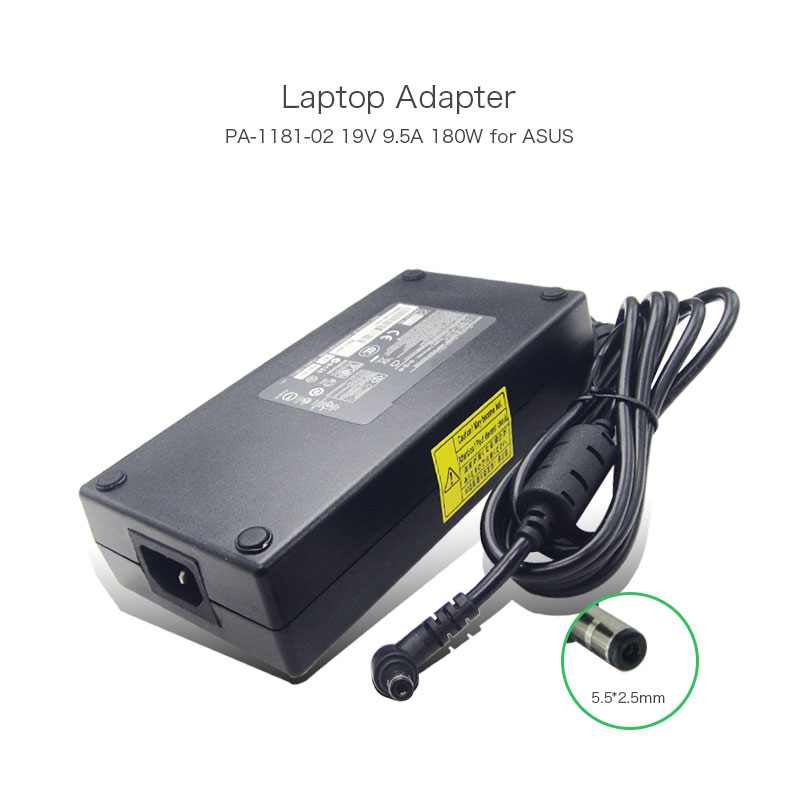 19V 9.5A 180W 5.5*2.5mm Laptop Power Supply AC Adapter Charger for ASUS G75 G75VW-TS71 G75VW-TS72 PA-1181-02 ADP-180HB D Netbook 19v 9 5a 180w adapter adp 180hb b for msi gt60 gt70 power charger for asus g55vw g75vw g75vx g750 g750jw g750jx