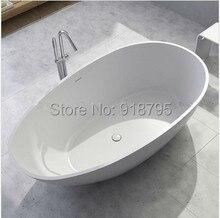 1780x980x510mm Surface solide pierre CUPC approbation baignoire ovale autoportante Corian mat ou brillant finition baignoire RS6553