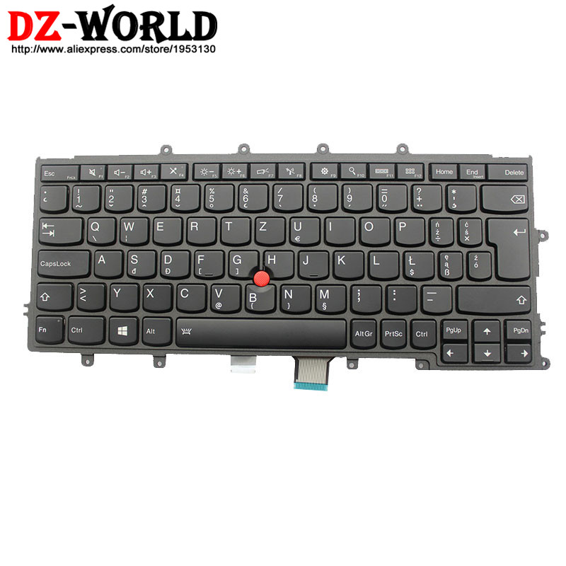 New Original for Lenovo Thinkpad X230S X240 X240S X250 X260 Backlit Keyboard PL Polish Backlight Teclado 04X0198 04X0236 0C44003 все цены
