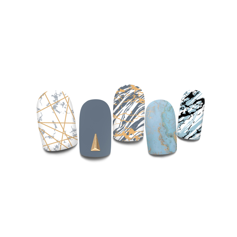 Harunouta Nail Stamping Plates Nails Beautiful Summer Marble Line Image Nail One Stamp Stencils Stamping Plate Manicure in Nail Art Templates from Beauty Health