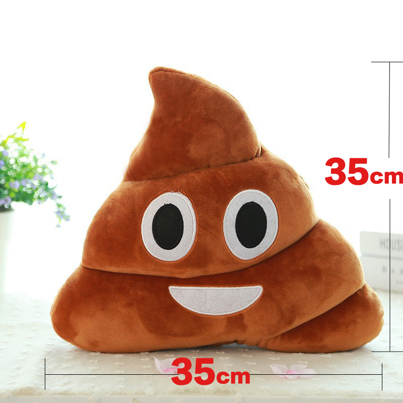 Pillows Toys Poop Smiley Poo Pillows 35cm Emoji Cushion Poop Plush Toys For Children Emoji Plush Pillows Decorative Funny Cute in Stuffed Plush Plants from Toys Hobbies