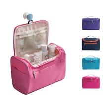 купить Waterproof Durable Travel Cosmetic Bag Women Make up Storage Organizer Bag Zipper Hanging Makeup Bag по цене 891.65 рублей