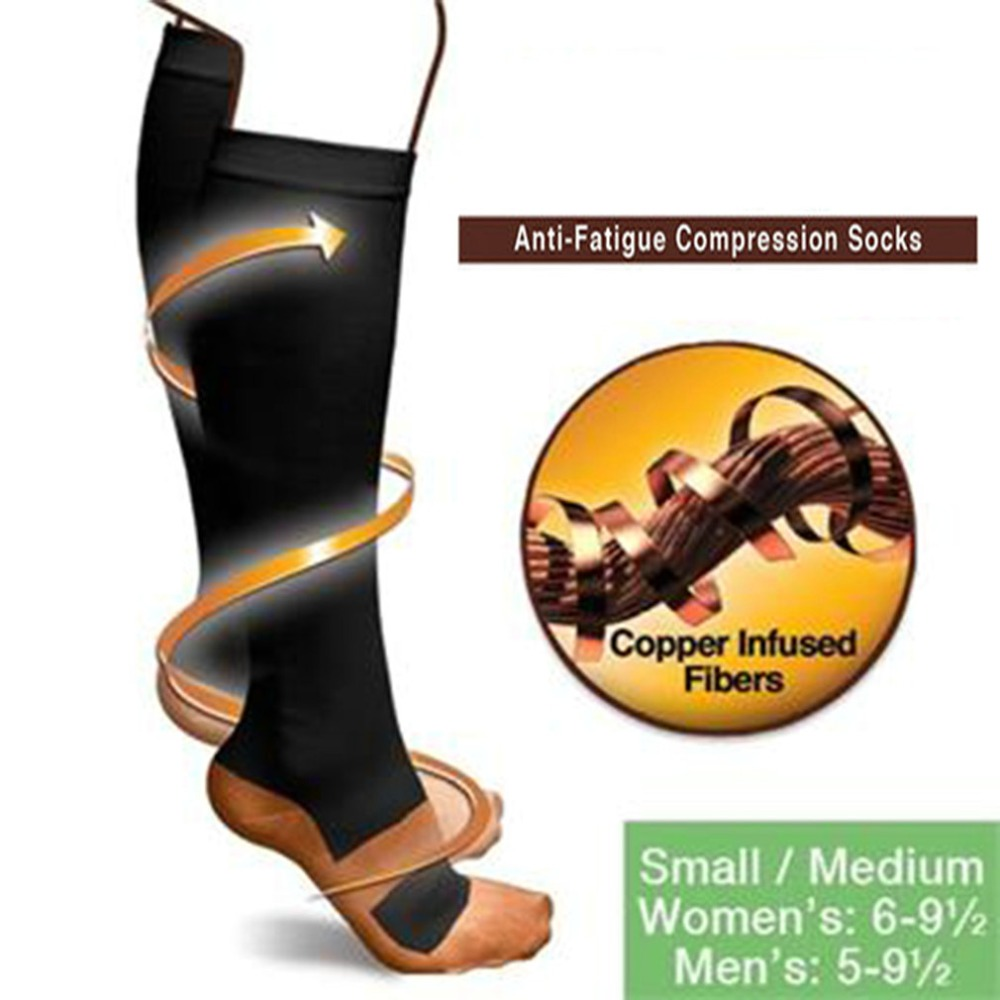 Burn Fat Zipper Compression Socks Women's Slim Sleeping Beauty Leg Shapper Socks Prevent Varicose Veins Socks