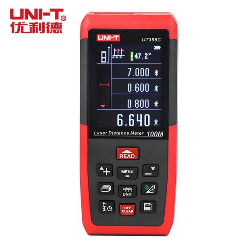 UNI T UT395C 100M Laser Distance Meter Rangefinder Lofting test Area-volume-Angle hunting Tool PC Software Data Storage USB Con