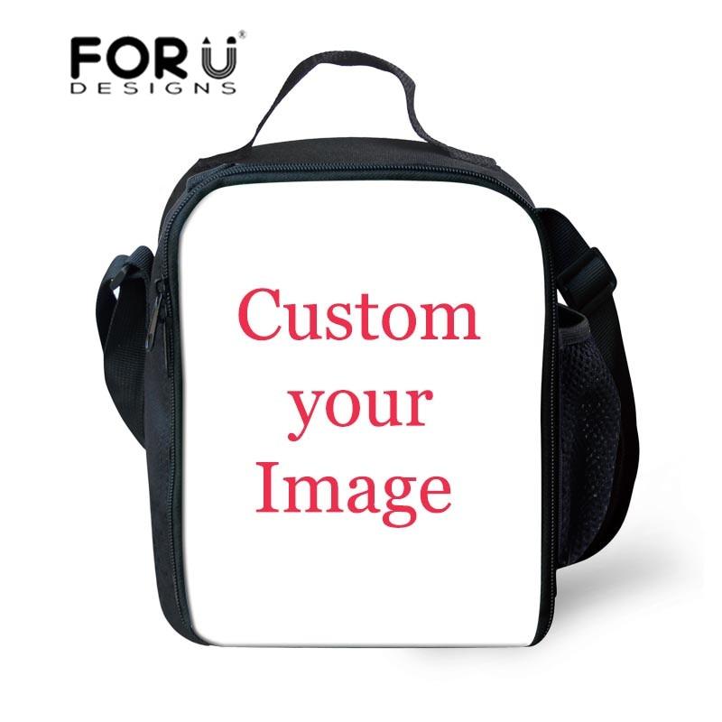 FORUDESIGNS Customized Your Logo Pattern Women font b Lunch b font font b Bags b font