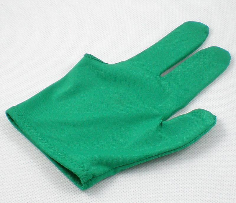 NEW 1pcs green Pool snooker Billiard table glove 3-finger shooter One size fits all 87