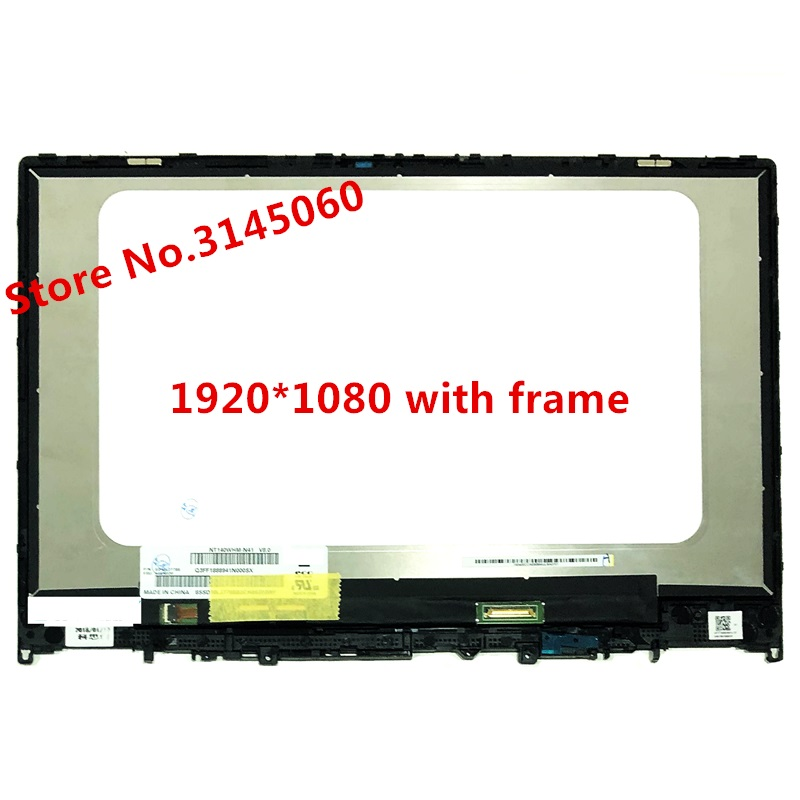 FOR LENOVO YOGA 530-14IKB LCD DISPLAY TOUCH SCREEN DIGITIZER FHD ASSEMBLY +FRAME