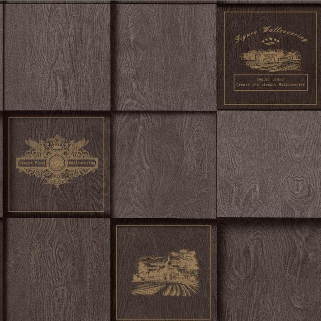 3d American Style Grid Wood Wallpaper Waterproof Pvc Vinyl Tile Wall
