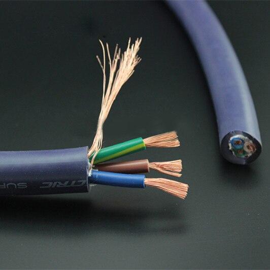 Furukawa czysta miedź przewód zasilający z wieloma przewodami dla majsterkowiczów wzmacniacz audiofilski odtwarzacz CD miernik kabli zasilających przewód zasilający luzem
