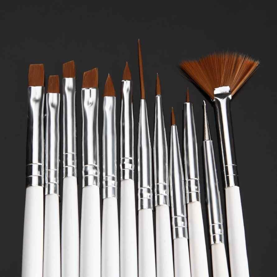 יופי ילדה 12 יח'\סט UV ג 'ל אקרילי אמנות מברשת ציור מנקדים תרגיל עט Builder ציור עט עיצוב אמנות ציפורן כלים F10X17