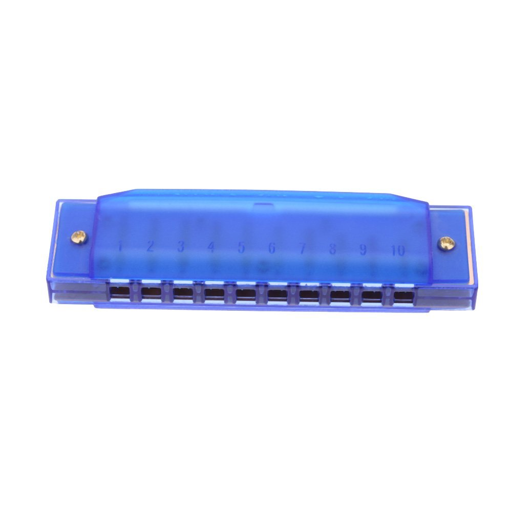 In Flavor Syds Diatonic Harmonica 10 Holes Blues Harp Mouth Organ Key Of C Reed Instrument With Case Kid Musical Toy Blue Fragrant