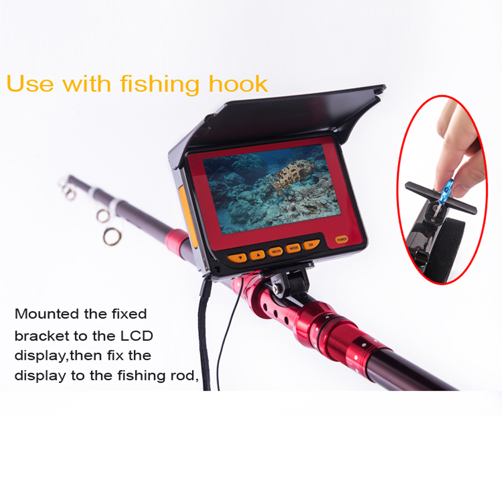 20M Professional Fish Finder Underwater Fishing Video Camera Monitor 150 Degree Angle 4.3 Inch LCD Monitor With 20M Cable New 8pcs led light fishing breeding monitoring 600tvl camera with 15m cable work for new 3 5 inch lcd underwater video camera system