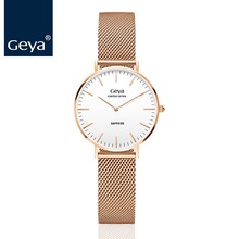Geya Japan Miyota GL20 модная Роскошная марка, Женская кварцевые часы, бизнес женское из нержавеющей стали, водонепроницаемые женские наручные часы
