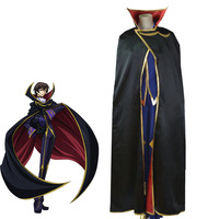 Code Geass Lelouch Lamperouge Lelouch of the Rebellion Zero Cosplay Kostium Halloween Carnival Cosplay Uniform Fioletowy stroje