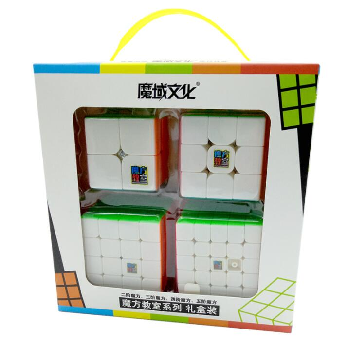 MoYu Mofangjiaoshi 2x2 3x3 4x4 5x5 Speed Cube Gift Box Packing Professional Puzzle Cubing Classroom MF2S MF3RS MF4S MF5S Cube z cube bundle black knight 2x2 3x3 4x4 5x5 speed cube set cube pack puzzle carbon fiber cube magic fidget toy gift box