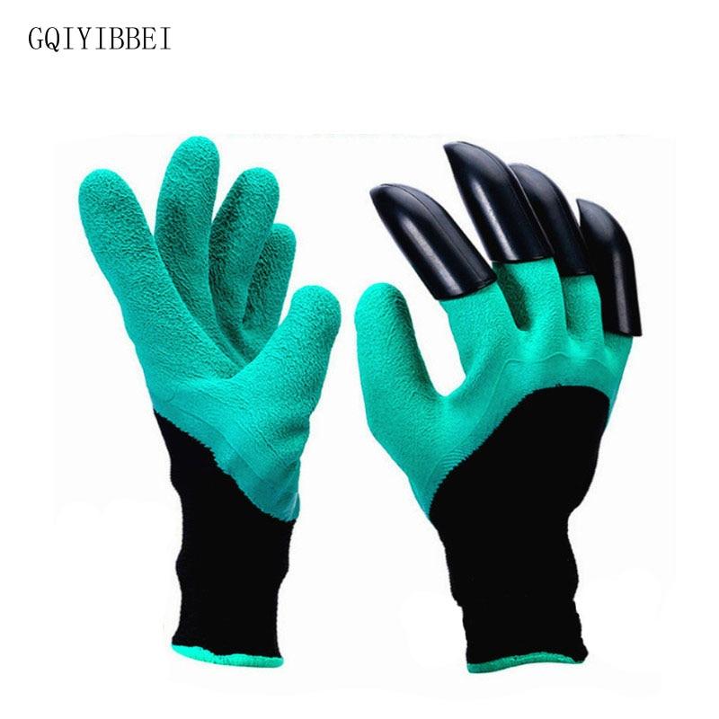 GQIYIBBEI 1 Ζεύγος Νέα Γάντια Κηπουρικής για Ψητοπωλεία Φύτευση Κήπος Genie Γάντια με 4 ABS Plastic Plastic Claws