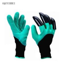 GQIYIBBEI 1 Pair New Gardening Gloves for Garden Digging Planting Garden Genie Gloves with 4 ABS Plastic Claws