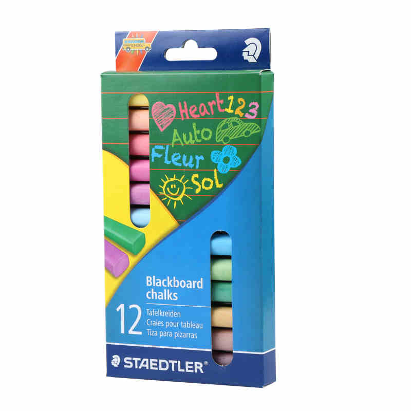 STAEDTLER White chalk children's blackboard test light dust-free color chalk 10pcs pack korea colorful chalk dust free chalk non toxic chalk