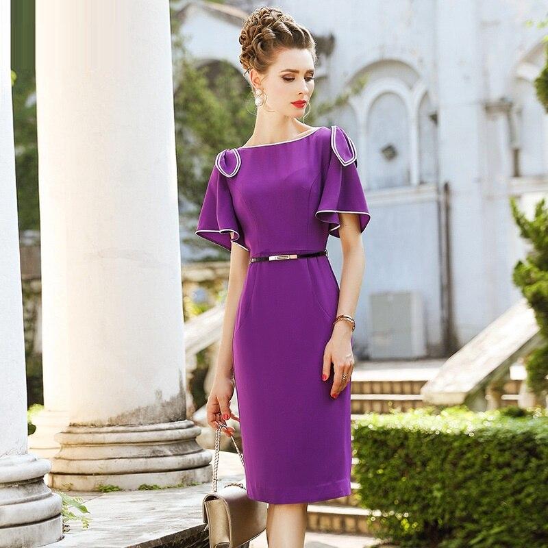 ee62b81d204d 2018 NEW luxury Spring Summer Office Lady Pencil dress Women Clothing Slim  Bow Party Dress plus size xxxl Elegant Work dresses