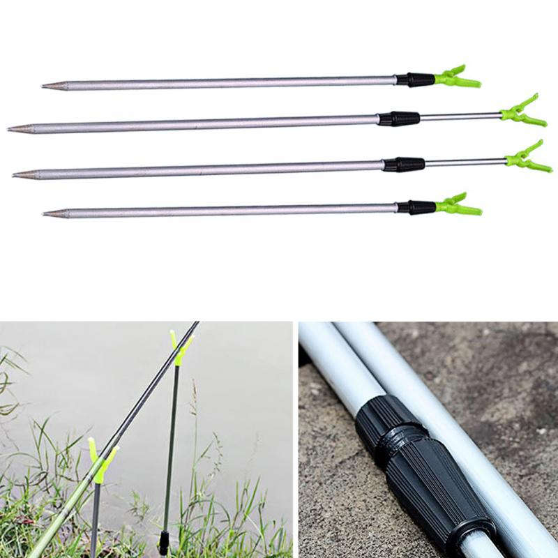 Hot Sale 2 Sections Adjustable Aluminium Travel Angling Fishing Rod Pole Rack V Holder Support Stand Fish Tackle Kits #H10*