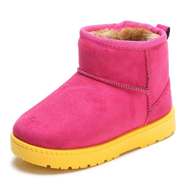 Mode d'hiver de bébé de modèle de botte de coton de bottes chaudes de neige rose byDkU7hN