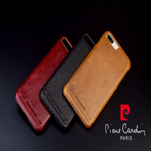 Pierre Cardin Luxury Genuine Leather Case For Apple iPhone 8/8 Plus Cell Phone Case New Fashion Hard Back Cover Free Shipping все цены