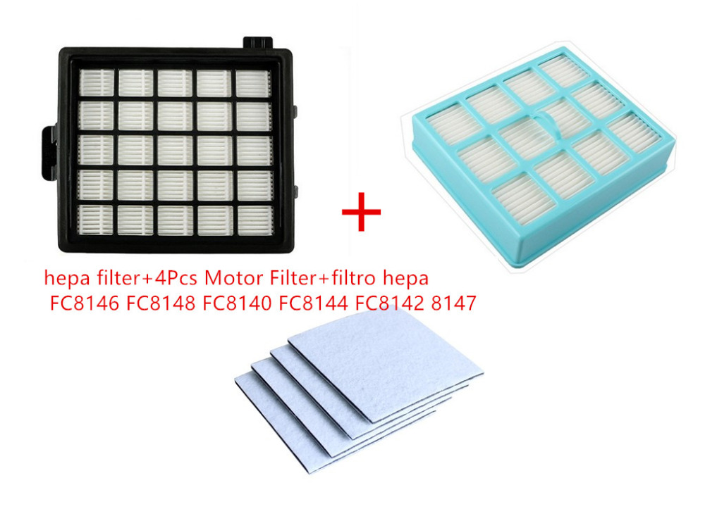 6Pcs vacuum cleaner replacement parts hepa filter+4Pcs Motor Filter+filtro hepa Philips FC8146 FC8148 FC8140 FC8144 FC8142 8147 filter vacuum cleaner eup hepa vh806 filter replacement parts