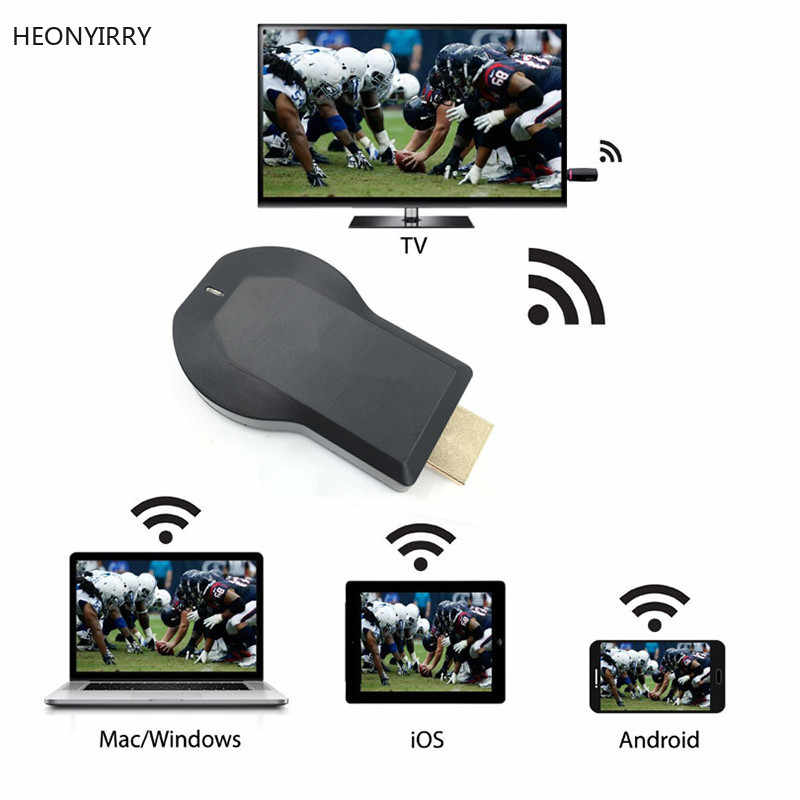 Anycast M2 Plus Airplay 1080 P Wireless WIFI Menampilkan TV Dongle Receiver TV Stick Android Miracast untuk Ponsel PC PK chromecast