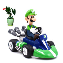 5 Anime Super Mario Bros Kart Pull Back Car Luigi PVC Action Figure Doll Collectible Model Toy Christmas Gift For Children [funny] original box 28cm game over watch azrael black death reaper ripper action figure collectible model doll toy kids gift