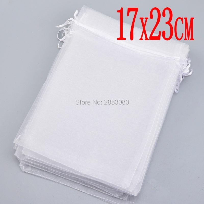 Wholesale 100pcs High Quality 17x23cm Large Organza Bag