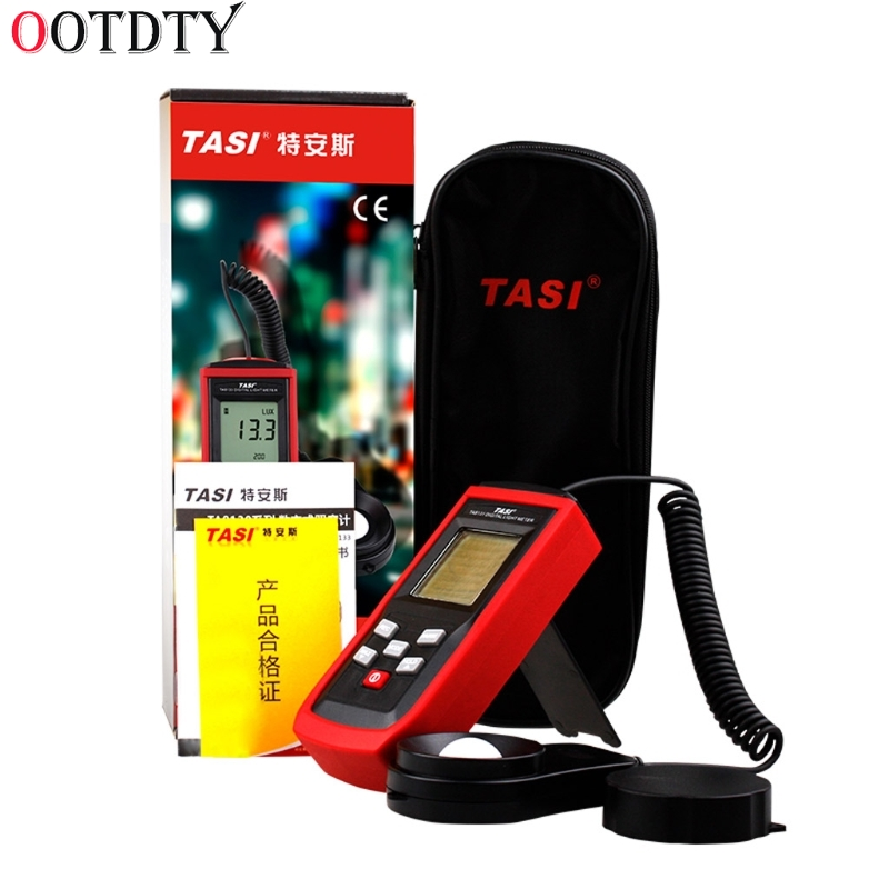 TA8131 Digital Light Meter 100000Lux Lux/FC LCD Luxmeter Luminometer Photometer free shipping digita 200 000 lux tester meter 4 range lcd digital light meter luxmeter tester luminometer photometer