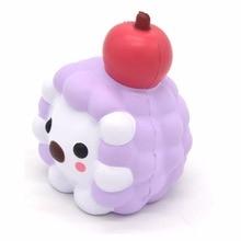 Kawaii Slow Rising Squishy Hedgehog Apple Cartoon Scented Cute Animal Fruit Squishies Original Package Kids Gift