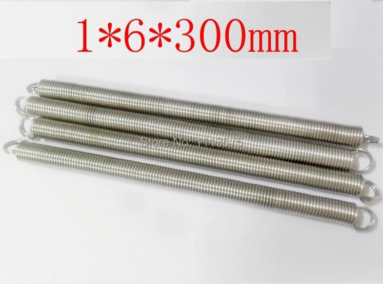 1*6*300mm metal 304 321 316 stainless steel torsion extension tension spring springs hardware spring compression spring extension torsion abrasives 300 0 5 5