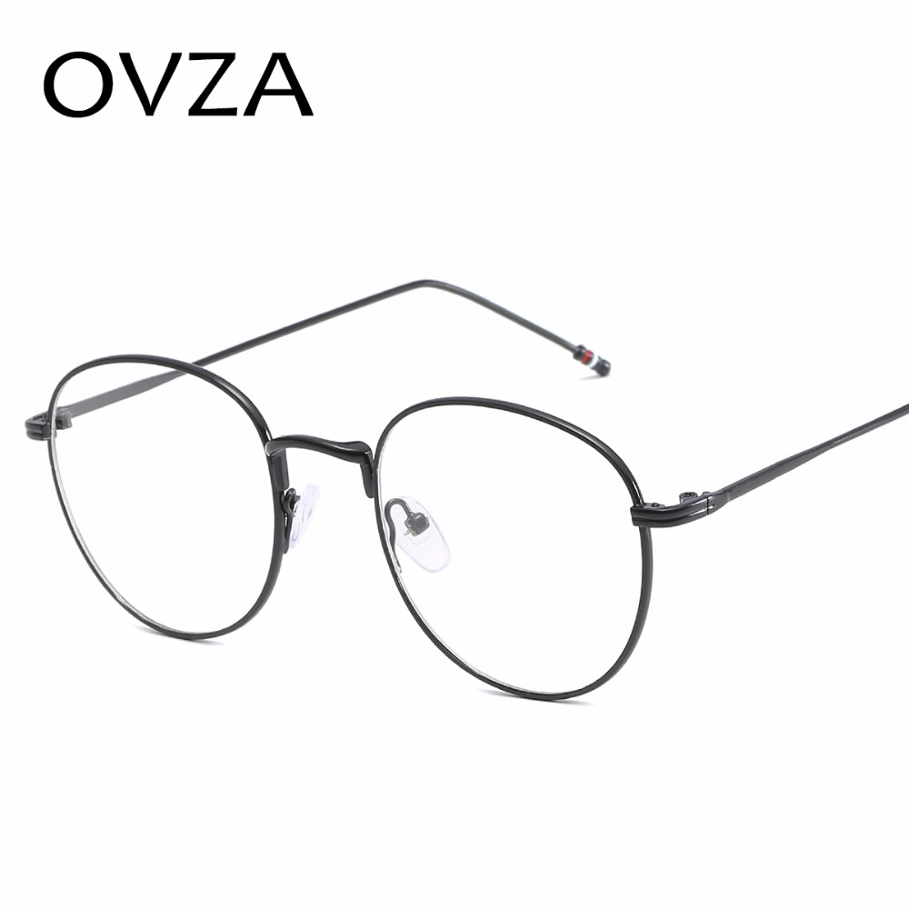 8934deb15d1 OVZA 2018 Oval Metal Glasses Frames Women Fashion Men Readers Eyeglasses  Retro Optical Frame Transparent Lens Glasses P S3002