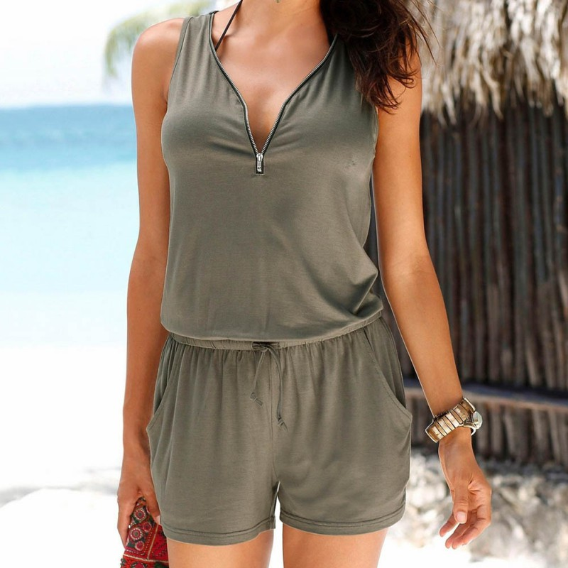 Women Elegant Jumpsuit Romper Summer Style Beach Short Playsuit Women s Sexy Overalls