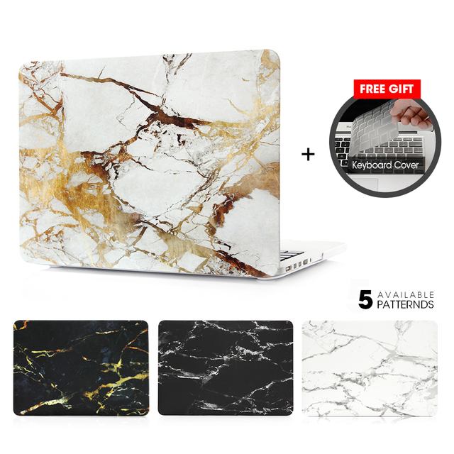 New Marble Stone Touch Bar Case For Apple macbook Air Pro Retina 11 12 13 15 laptop bag For Mac 13.3 inch + Gift Keyboard Cover