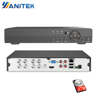 4 Channel 8 Channel AHD DVR Surveillance CCTV Video Recorder DVR 720P/1080N Hybrid DVR For 720P /1080P Analog AHD Camera 4CH 8CH