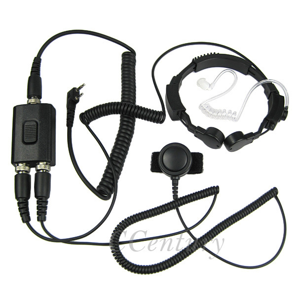 Xqf Military Tactical Throat Mic Earpiece Headset For Baofeng