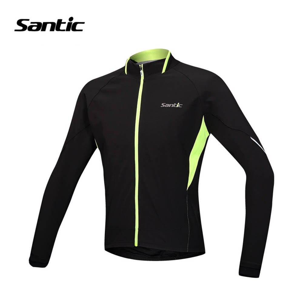 69bd51388 Santic Cycling Winter Jacket Athletic Training Windproof Fleece Termal  Cycling Wind Coat Long Sleeve Bike Jacket Clothing Men
