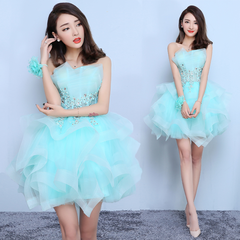 Popular Ice Blue Cocktail Dress-Buy Cheap Ice Blue Cocktail Dress ...