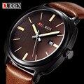 Relogio Masculino Fashion Montre Homme Reloj Hombre Quartz-Watch Curren Male Watch Leather Wristwatches Men Curren Watches Clock