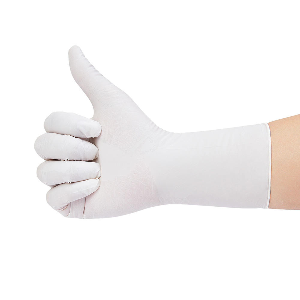 100pcs Disposable white nitrile gloves long thick 12inch waterproof work gloves in Safety Gloves from Security Protection