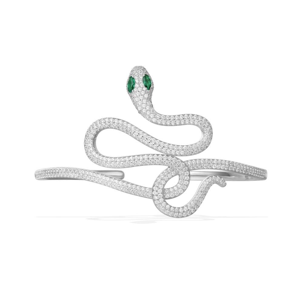 Monaco collection Snake bracelet silver 925 Stretch Cuff bangle Animal Palm cz zircon Bangle Pulseiras women bijoux rose gold браслет с брелоками seendom jewelry 925 pulseiras cz xoxo pbs105