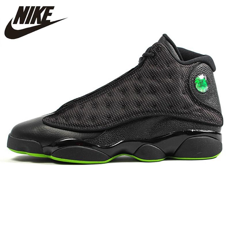 Original Outdoor Sport Schuhe 414571 030 Turnschuhe Basketball-schuhe RüCksichtsvoll Nike Air Jordan 13 Retro höhe Grün Männer Sport Basketball Schuhe