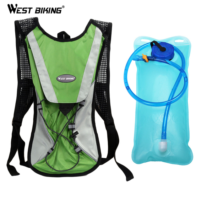 WEST BIKING 2 L Portable Water Bag Cycling Backpack Wide Mouth Hydration Water Bladder Bag Bike Sports Cycling Bicycle Bag